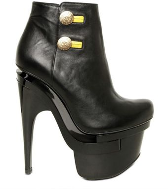 Versace 160mm Gold Button Up Nappa Low Boots - Lyst