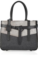 Reed Krakoff Boxer Leather and Wool Tote in Gray - Lyst