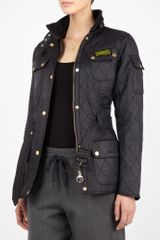 Barbour Black International Polar Quilt Jacket