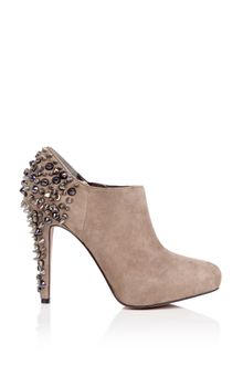 Sam Edelman Putty Renzo Suede Ankle Boot Stud Heel - Lyst
