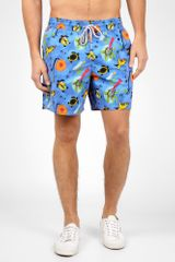 Vilebrequin Blue Farandole Dance Miro Print Swimshorts in Blue for Men - Lyst