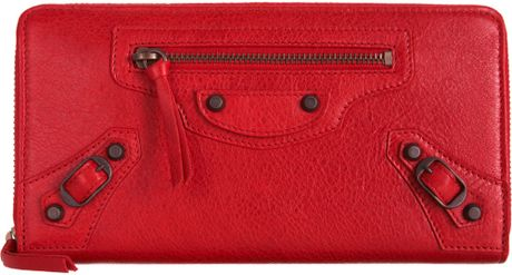 Balenciaga Arena Classic Continental in Red - Lyst