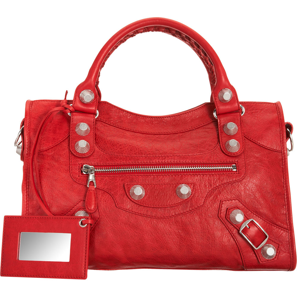 balenciaga arena giant city bag in red lyst. Black Bedroom Furniture Sets. Home Design Ideas