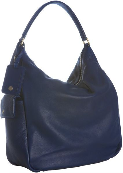 Saint Laurent Blue Leather Multy Hobo Shoulder Bag in Blue