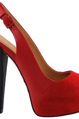 L.a.m.b. Nomad Heels in Red - Lyst