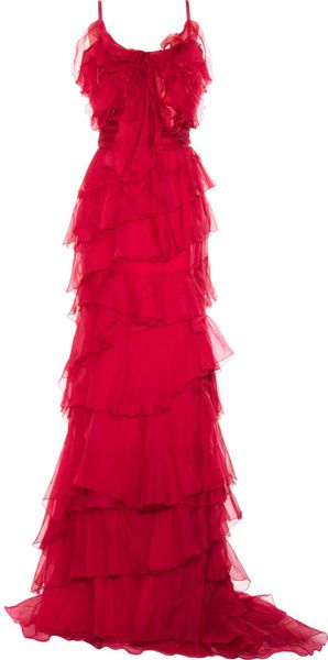 Nina Ricci Tiered Ruffle Dress - Lyst
