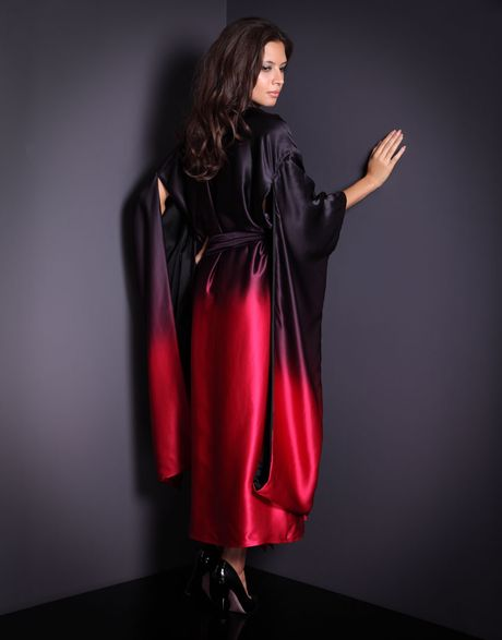 Agent Provocateur Barbetta Kimono in Red - Lyst