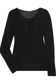 Bottega Veneta Open-knit Cashmere-blend Sweater - Lyst