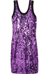 D&G Sequin-embellished Crepe Dress - Lyst