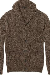 Gucci Chunky Knit Wool Blend Cardigan - Lyst