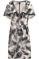 Lela Rose Satellite Silk-jacquard Dress - Lyst