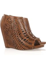 Mea Shadow Giglio Laser-cut Leather Wedges - Lyst