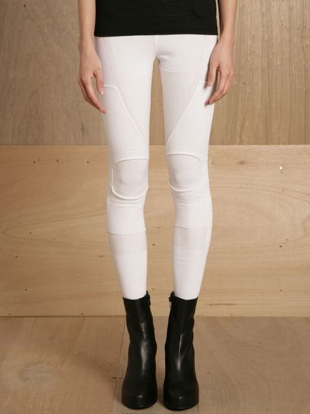 Ohne Titel Womens Knee Roll Legging in White