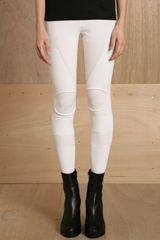 Ohne Titel Womens Knee Roll Legging in White - Lyst