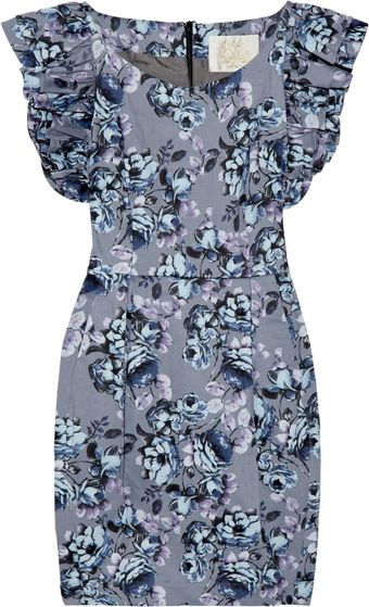 Sara Berman Floral-print Cotton-blend Dress - Lyst
