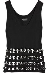 Sonia By Sonia Rykiel Beaded Cotton-knit Tank - Lyst