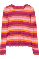 Sonia By Sonia Rykiel Striped Cotton Sweater - Lyst