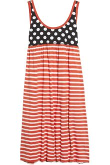 Sonia By Sonia Rykiel Contrast Cotton Dress - Lyst