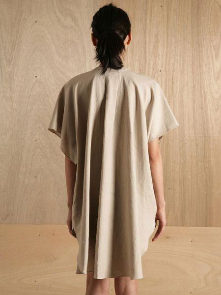 Yaeca Womens Placket Front T Shirt in Beige | Lyst