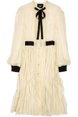 D&G Ruffled Silk Dress - Lyst