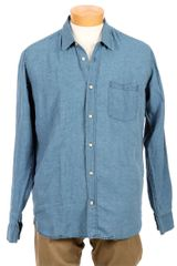 Our Legacy Indigo Linen Shirt - Lyst