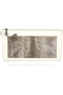 Reed Krakoff Python-detailed Leather Clutch - Lyst