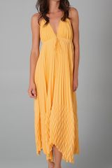 Alice + Olivia Adalyn Pleated Maxi Dress - Lyst