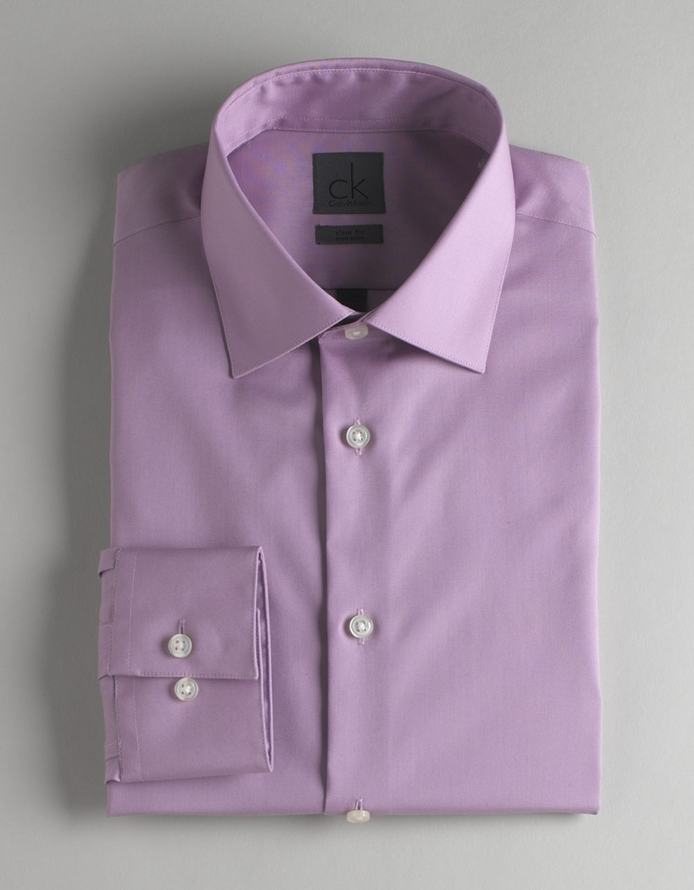 Ck calvin klein non iron dress shirt in purple for men Light purple dress shirt men