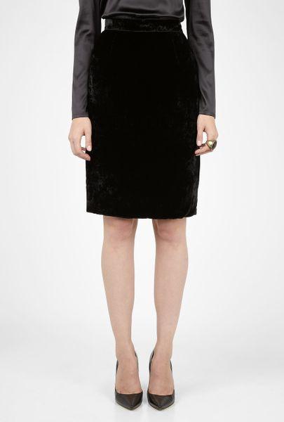 d g velvet pencil skirt in black lyst