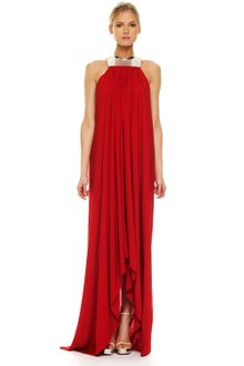 Michael Kors Metal-neck Jersey Gown - Lyst
