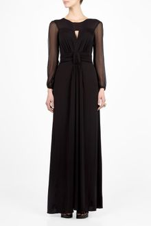 Long Sleeve Maxi Dress on Di Alberta Ferretti Long Sleeve Maxi Dress In Black  Multi    Lyst