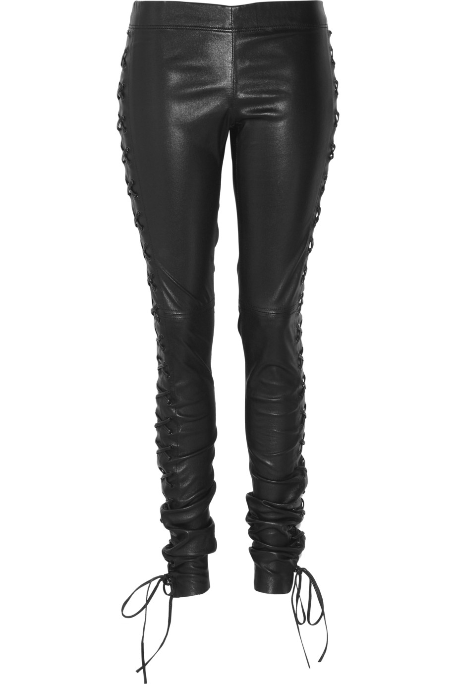 Joseph Harley Lace Up Leather Pants In Black Lyst
