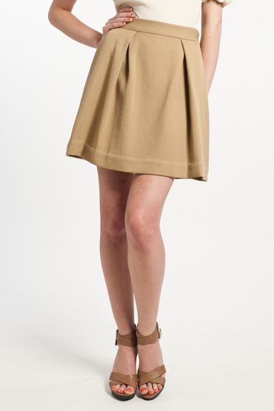 3.1 Phillip Lim Inverted Pleated Skirt in Camel in Beige (camel) - Lyst