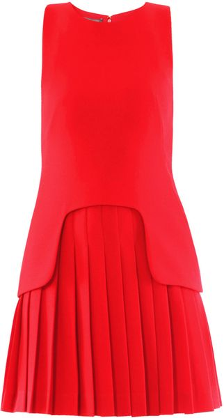 Alexander McQueen Crepe Sleeveless Dress - Lyst