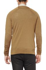 Balenciaga Woolblend Cardigan in Brown for Men - Lyst