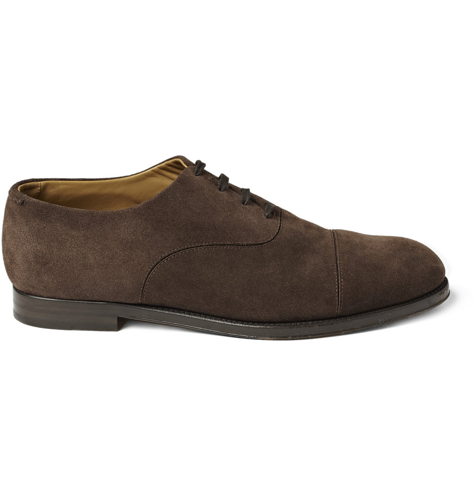 jimmy choo draycott suede oxford shoes in brown for lyst