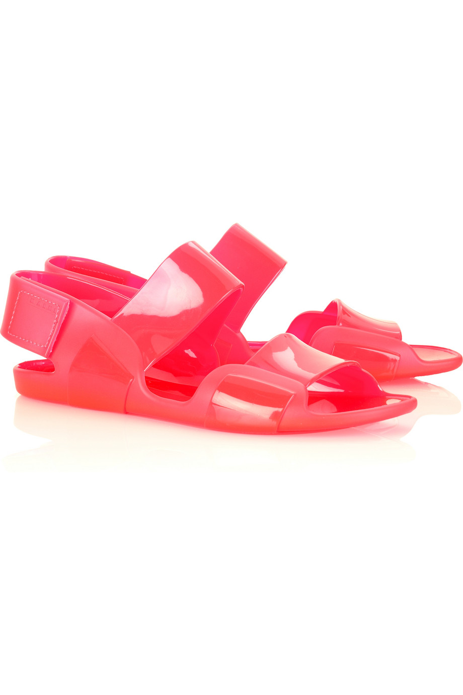 Marni Flat Jelly Sandals In Pink Lyst