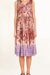 Tibi Swirl Paisley Pleated Dress - Lyst