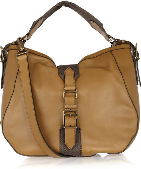 Burberry Brown Leather Shoulder Bag 95