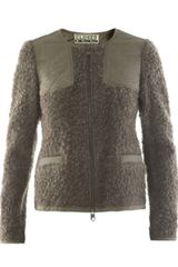 Closed Textured Jacket in Green (brown) - Lyst