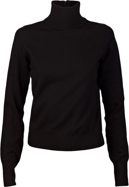 Alexander Wang Zip Back Turtleneck in Black - Lyst