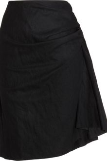 Lanvin Gathered Front Skirt - Lyst