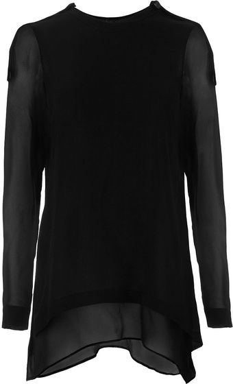 Roberta Furlanetto Double Layered Blouse - Lyst