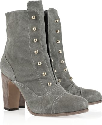 Vanessa Bruno Canvas Ankle Boots - Lyst