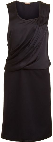 Bottega Veneta Sleeveless Drape Front Dress in Blue (midnight) - Lyst