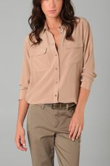 Equipment Signature Blouse - Lyst