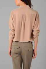 Equipment Signature Blouse in Beige (camel) - Lyst