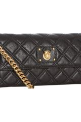 Marc Jacobs Black Quilted Leather Ginger Crossbody - Lyst