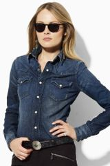 Ralph Lauren Blue Label Classic Denim Western Shirt