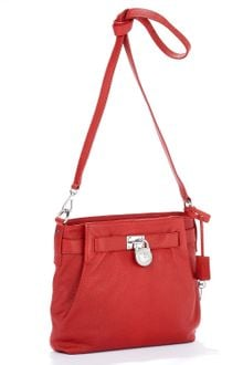 Michael Kors Michael Hamilton Medium Messenger Red - Lyst